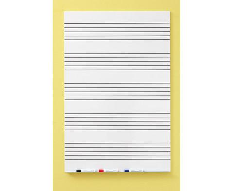 Langflaechen-Whiteboard mit 5 Notensystemen