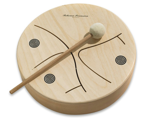 Holz-Tamburin 3-toenig