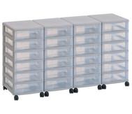 Flexeo Container-System 4 Reihen, 24 kleine Boxen HxBxT: 66x120x38 cm