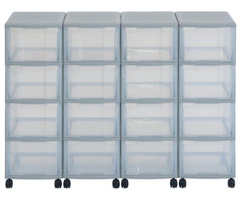 Flexeo Container-System 4 Reihen 16 grosse Boxen HxBxT 86x120x38 cm