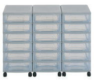 Flexeo Container-System 3 Reihen, 18 kleine Boxen HxBxT: 66x90x38 cm