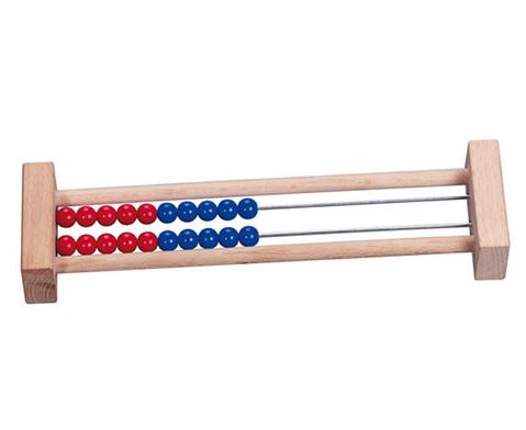 Rechenrahmen mit 20 Perlen blau-rot