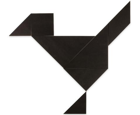 Betzold Riesen-Tangram-Teile aus Kunststoff schwarz in Box