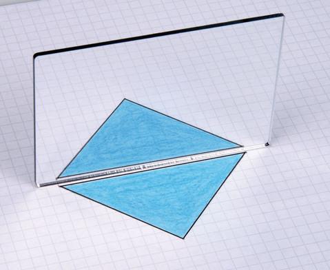 Geometriespiegel aus Kunstglas einzeln