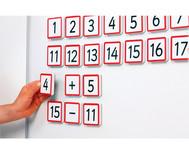 Große magnetische Zahlenplättchen