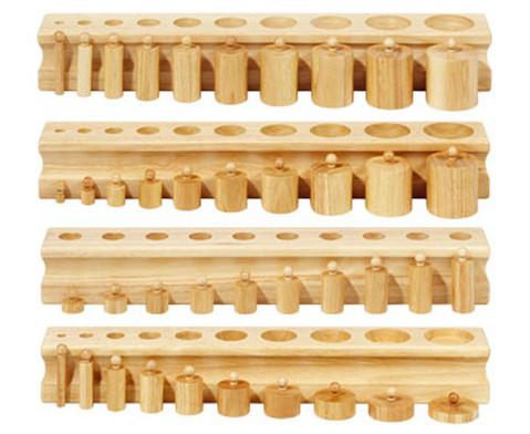 Betzold 4 Bloecke mit Einsatz-Zylindern