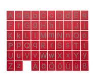 Tastplatten  Groß- und Kleinbuchstaben