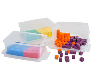 Klassensatz mit 300 Würfeln und 3 Kunststoff-Boxen