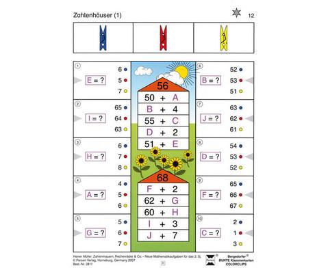 Colorclip Zahlenmauern Zahlenhaeuser Rechenraeder ZR 100-1