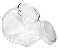 Material-Behälter mit transparentem Schraubdeckel