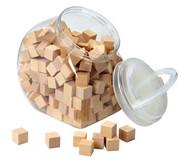 150 Holzwürfel, naturbelassen