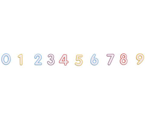 Magnetische Zahlen mit Taschen