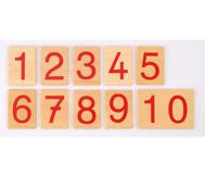 Zahlenkarten für numerische Stangen