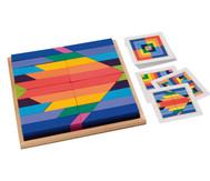 Buntes Stangen-Mosaik
