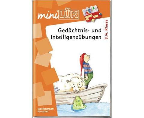miniLUEK Gedaechtnis- und Intelligenzuebungen 3-4Klasse-1