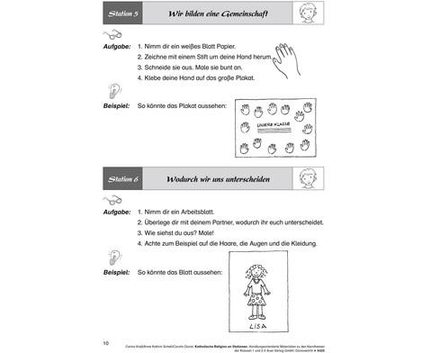 Katholische Religion an Stationen -  Klassen 1 und 2-3