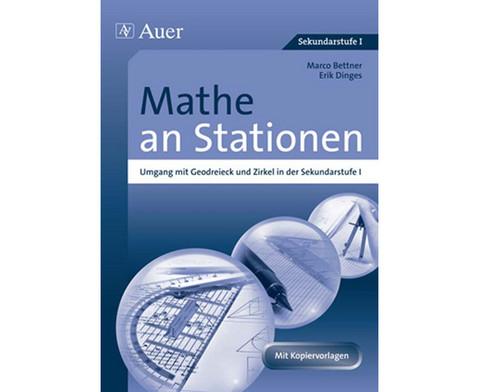 Mathe an Stationen Umgang mit Geodreieck  Zirkel-1
