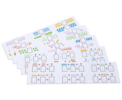 Aufgabenkarten fuer Rechenmagnetbox Set 1-1