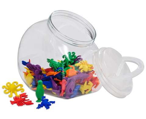 Wasserwelt-Rechentiere im Kunststoffbehaelter