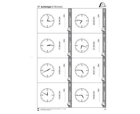 Uhrzeiten-Training in der Grundschule 1-2-2