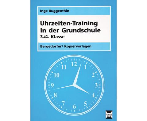 Uhrzeiten-Training in der Grundschule 3-4-1