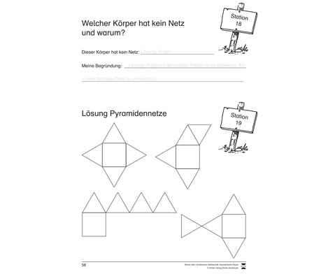 Lernstationen Mathematik Geometrische Koerper-2