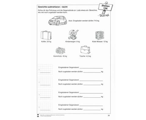 Lernstationen Mathematik Schriftliche Subtraktion-2