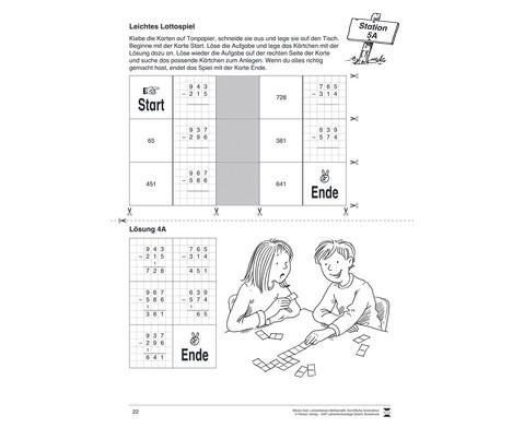 Lernstationen Mathematik Schriftliche Subtraktion-3