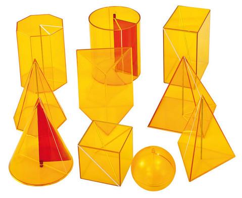 10-teiliger Satz Geometriekoerper aus Plexiglas