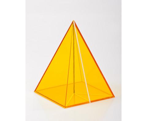 10-teiliger Satz Geometriekoerper aus Plexiglas-6