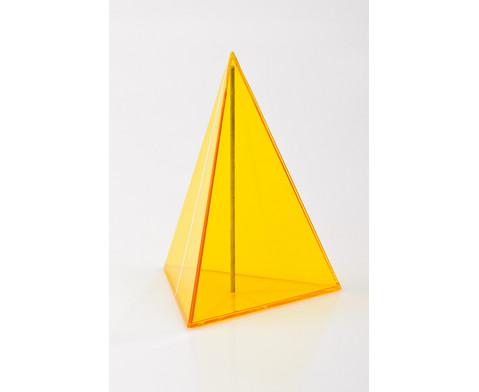 10-teiliger Satz Geometriekoerper aus Plexiglas-8