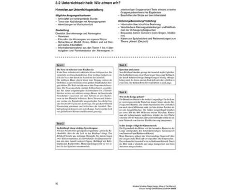 Kopiervorlagen Der Mensch  - 5 bis 10 Klasse-4