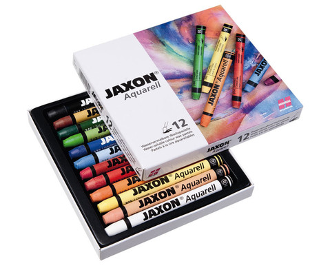 Jaxon Aquarell Wachspastelle 12 Farben-1