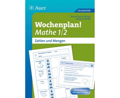 Wochenplan Mathe 1-2 - Zahlen und Mengen-1