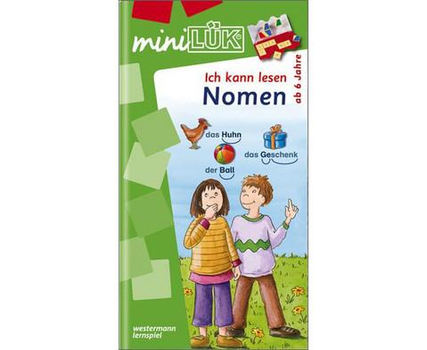 miniLUEK-Heft Ich kann lesen - Nomen-1