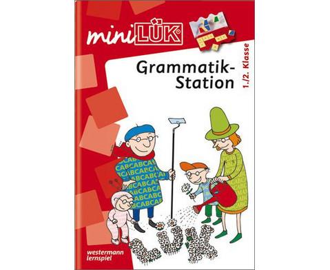 miniLUEK-Heft Grammatikstation 1-2 Klasse-1