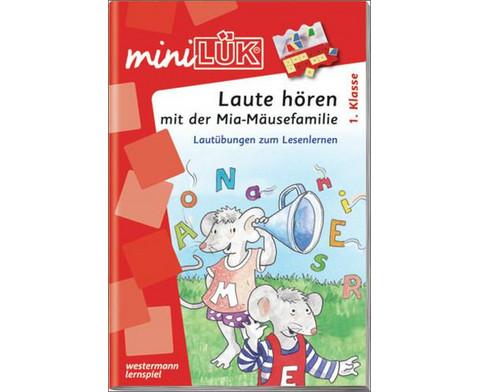 miniLUEK-Heft Laute hoeren mit der Mia-Maeusefamilie 1 Klasse-1