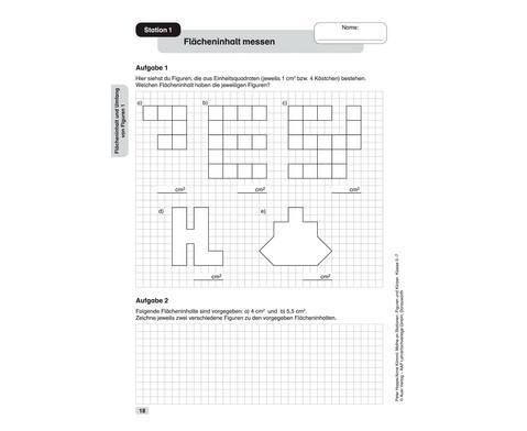 Mathe an Stationen - Spezial Figuren und Koerper Klasse 5 - 7-3