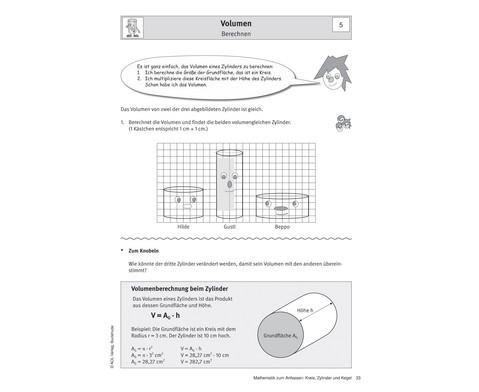 Mathematik zum Anfassen Kreis Zylinder und Kegel - Klasse 8-9-2