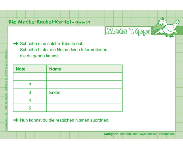 Die Mathe-Knobelkartei - Klasse 3-4 - betzold.at