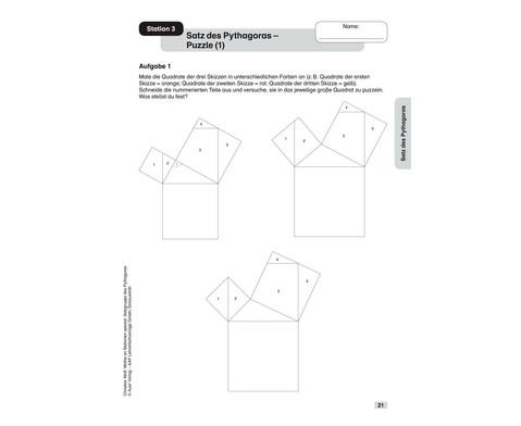 Mathe an Stationen - Spezial Satzgruppe des Pythagoras - Klasse 7 - 10-4
