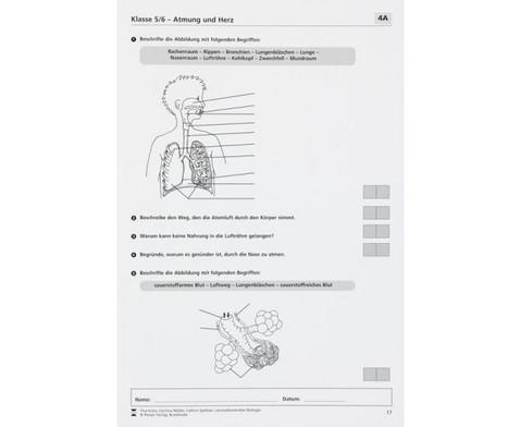 Lernzielkontrollen Biologie - Klassen 5 - 10-3