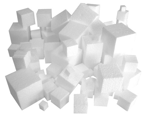 Styroporwuerfel Set mit 100 Stueck