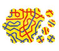 Streckenpuzzle Sechsecke - Set