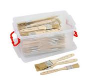 Schulpinsel-Set, 72 Breite Pinsel