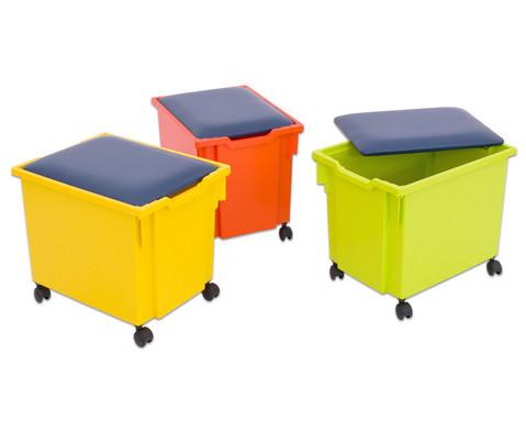 Deckel mit Sitzpolster fuer Gratnells Materialbox
