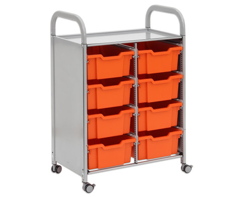 Regal Callero 2-reihig 8 grosse Boxen HxBxT 103 x 68 x 43 cm