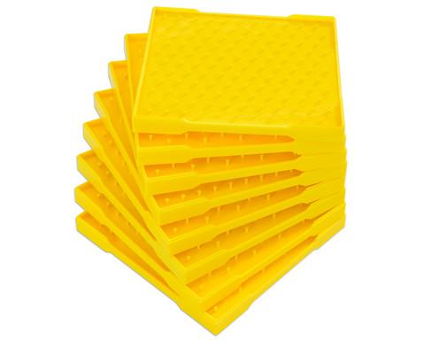 Set mit 8 Geometriebrettern 11 x 11 Zapfen
