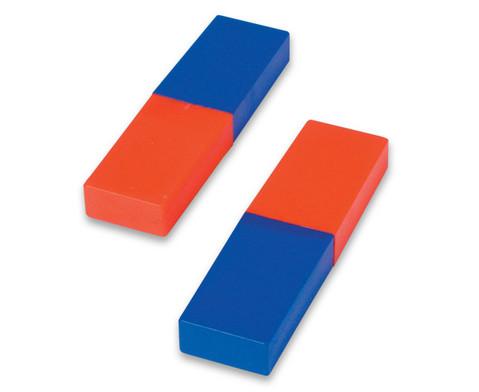 Satz mit 2 Stabmagneten in Kunststoffhuelle