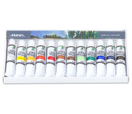 Acrylfarben-Set, 12 Tuben mit je 12 ml